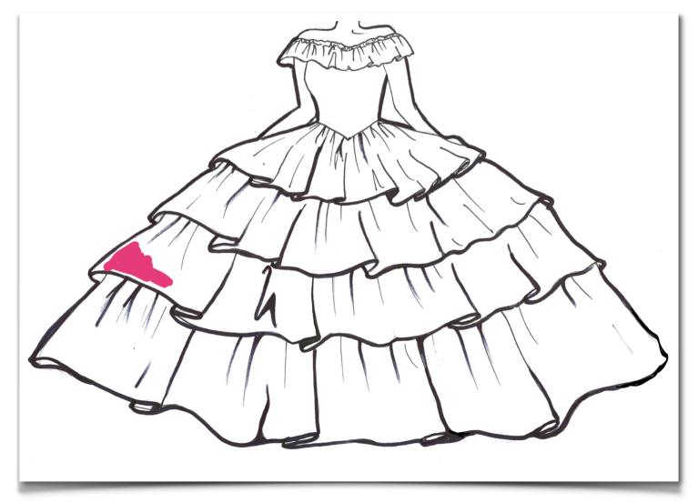 Gypsy Wedding Prom Dress